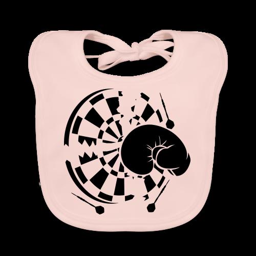 Dartscheibe Boxen Shirt - Baby Bio-Lätzchen