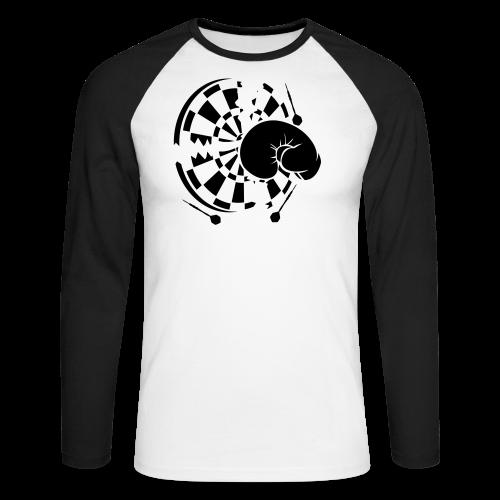 Dartscheibe Boxen Shirt - Männer Baseballshirt langarm