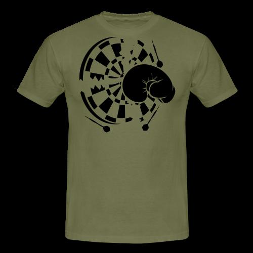 Dartscheibe Boxen Shirt - Männer T-Shirt
