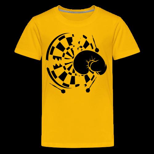 Dartscheibe Boxen Shirt - Teenager Premium T-Shirt