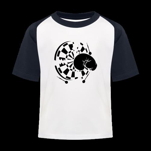 Dartscheibe Boxen Shirt - Kinder Baseball T-Shirt