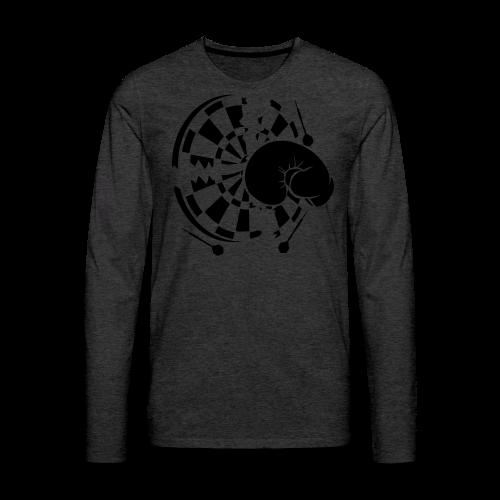 Dartscheibe Boxen Shirt - Männer Premium Langarmshirt