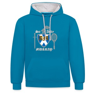 Sir Andy. Ladies T Shirt. Colour choice. - Contrast Colour Hoodie