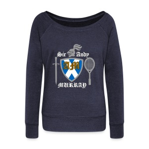 Sir Andy. Ladies T Shirt. Colour choice. - Women's Boat Neck Long Sleeve Top
