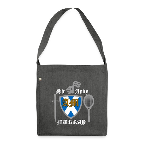 Sir Andy. Ladies T Shirt. Colour choice. - Shoulder Bag made from recycled material