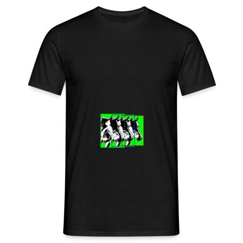 Pferde im Dreier-Format-bunt - Männer T-Shirt
