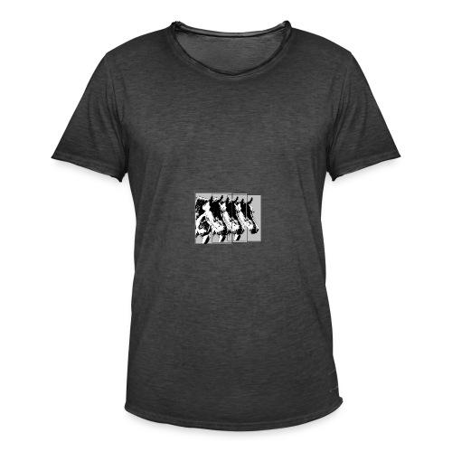 Pferde im Dreier-Format schwarz.grau - Männer Vintage T-Shirt