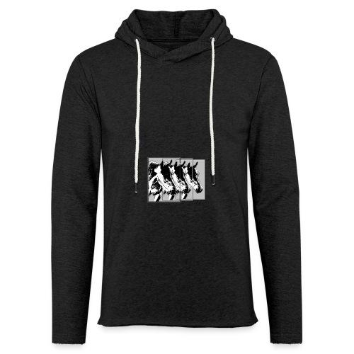 Pferde im Dreier-Format schwarz.grau - Leichtes Kapuzensweatshirt Unisex
