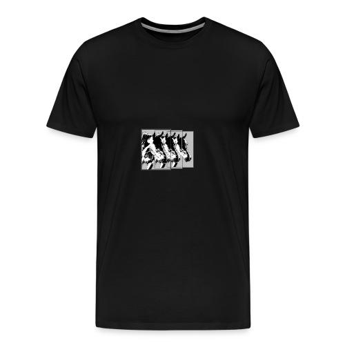 Pferde im Dreier-Format schwarz.grau - Männer Premium T-Shirt