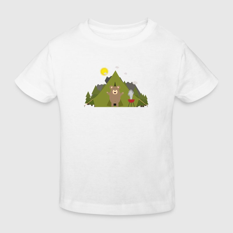 Ours brun, camping Tee shirts - T-shirt Bio Enfant