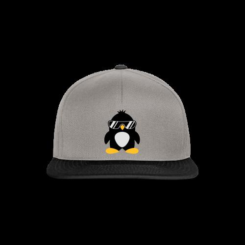 Pinguin-schwarz/neongelb - Snapback Cap