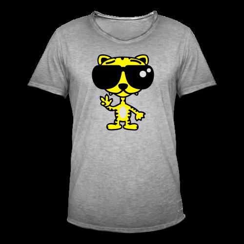 Tiger mit Sonnenbrille - Männer Vintage T-Shirt
