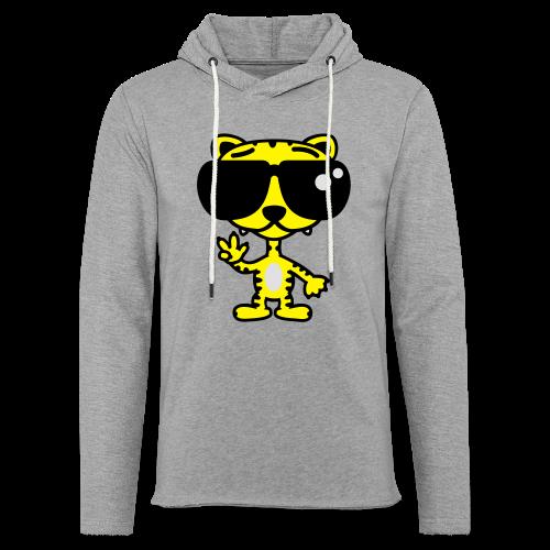 Tiger mit Sonnenbrille - Leichtes Kapuzensweatshirt Unisex