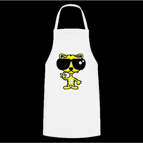 Tiger mit Sonnenbrille - Kochschürze