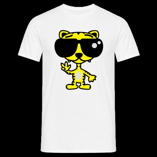 Tiger mit Sonnenbrille - Männer T-Shirt