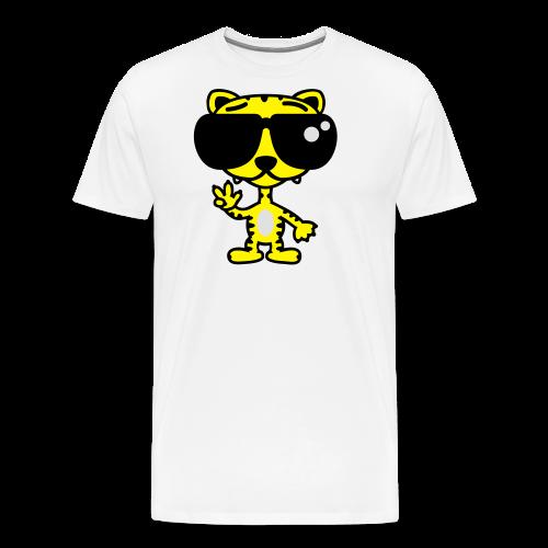 Tiger mit Sonnenbrille - Männer Premium T-Shirt