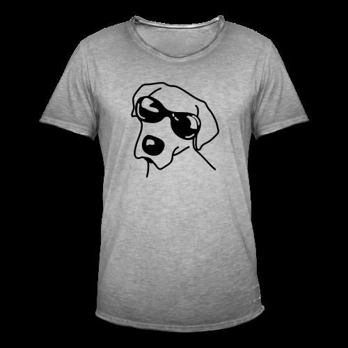 Hund mit Sonnenbrille - Männer Vintage T-Shirt