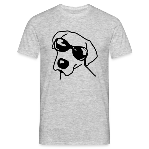 Hund mit Sonnenbrille - Männer T-Shirt