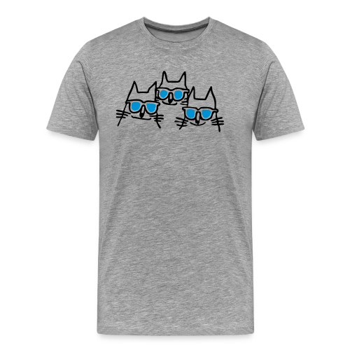 Katzen mit Sonnenbrillen - Männer Premium T-Shirt