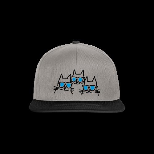 Katzen mit Sonnenbrillen - Snapback Cap