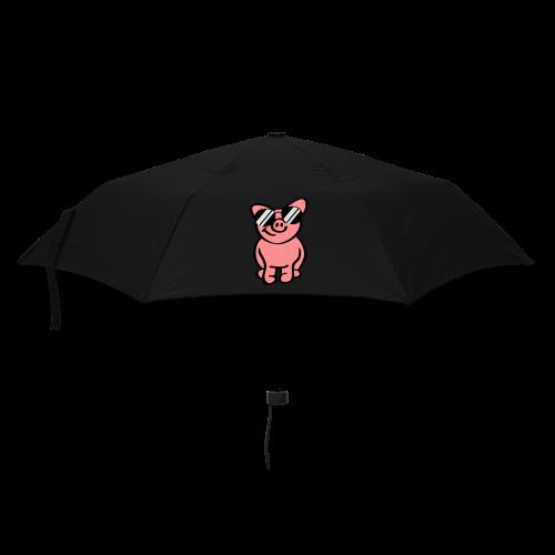 Schwein mit Sonnenbrille - Regenschirm (klein)