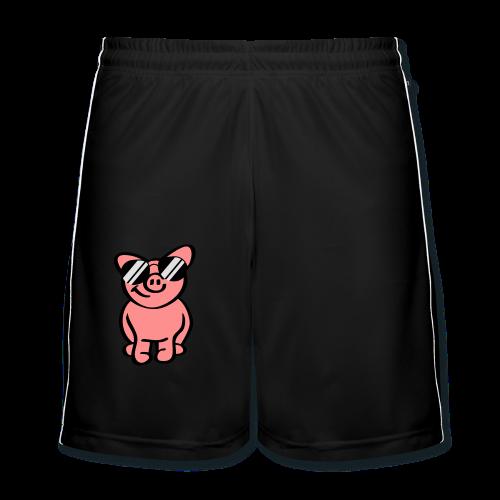 Schwein mit Sonnenbrille - Männer Fußball-Shorts