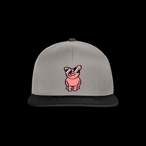 Schwein mit Sonnenbrille - Snapback Cap
