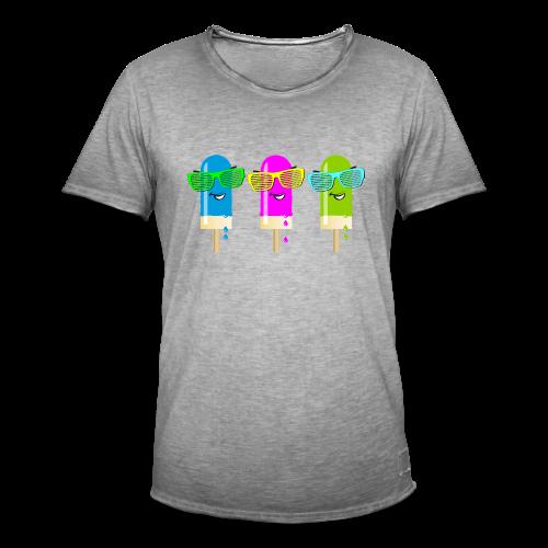 Drei Eis am Stiel - Männer Vintage T-Shirt