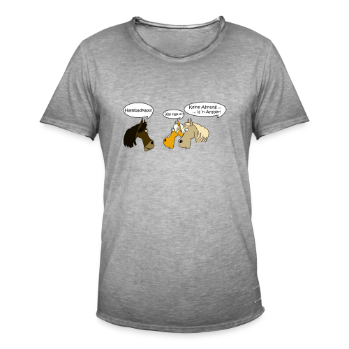 sprechende Pferde - Männer Vintage T-Shirt