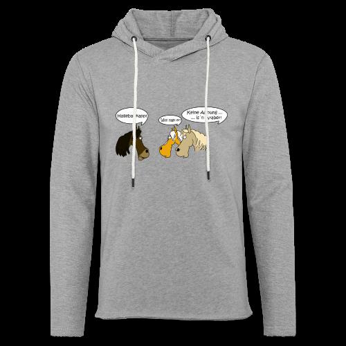 sprechende Pferde - Leichtes Kapuzensweatshirt Unisex