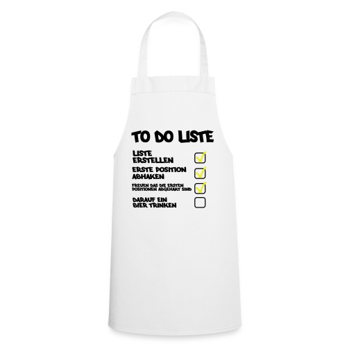 TO DO LISTE - Kochschürze