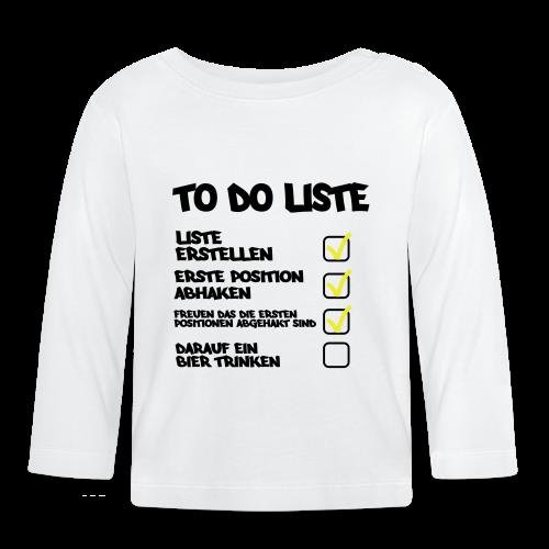TO DO LISTE - Baby Langarmshirt