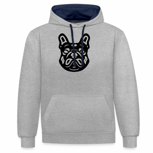 French Bulldog Françis - Kontrast-Hoodie