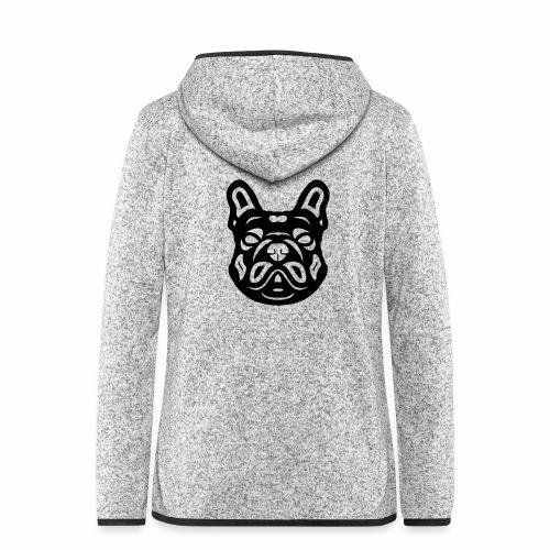 French Bulldog Françis - Frauen Kapuzen-Fleecejacke