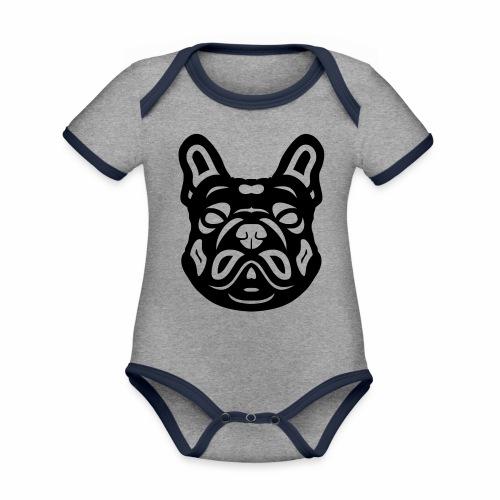 French Bulldog Françis - Baby Bio-Kurzarm-Kontrastbody