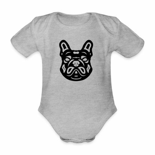 French Bulldog Françis - Baby Bio-Kurzarm-Body