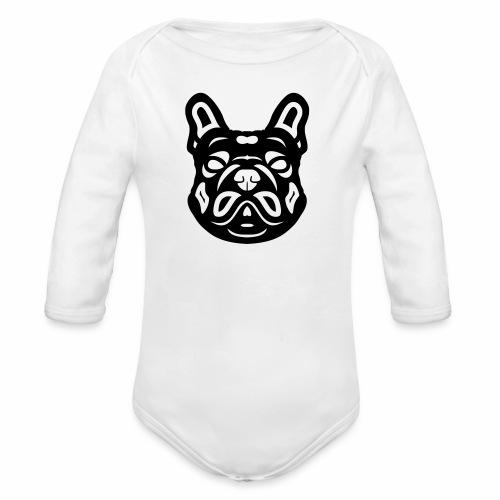 French Bulldog Françis - Baby Bio-Langarm-Body