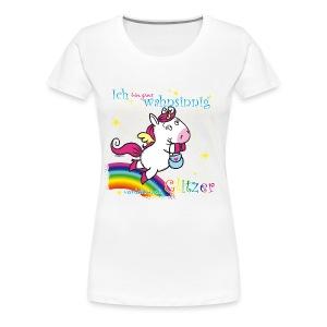 Pegatussi verrückt nach Glitzer - Frauen Premium T-Shirt