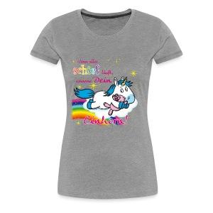 Umarme dein Einhorn - Frauen Premium T-Shirt
