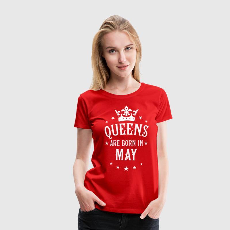 Queens are born in May Crown Legends Star T-Shirt - Frauen Premium T-Shirt