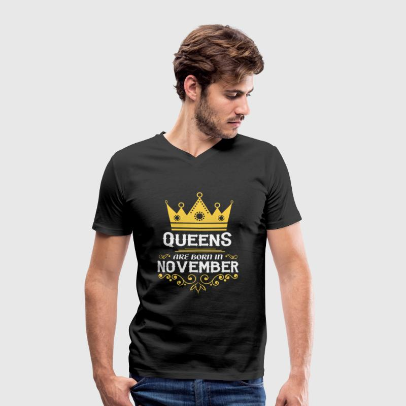 Queens are born in November T-Shirts - Men's V-Neck T-Shirt
