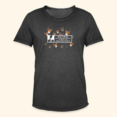 Malthead Warning, Glasses - Männer Vintage T-Shirt