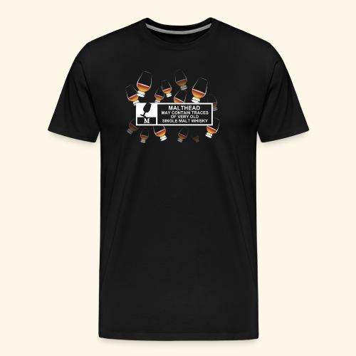 Malthead Warning, Glasses - Männer Premium T-Shirt