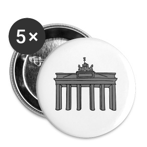 Brandenburg Gate in Berlin 2 Caps & Hats - Buttons small 25 mm