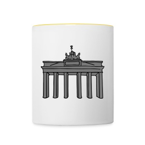 Brandenburg Gate in Berlin 2 Caps & Hats - Contrasting Mug