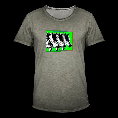 M-149-Pferde 3er Format-bunt - Männer Vintage T-Shirt