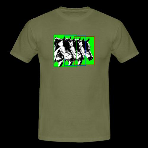 M-149-Pferde 3er Format-bunt - Männer T-Shirt