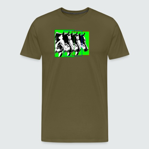 M-149-Pferde 3er Format-bunt - Männer Premium T-Shirt