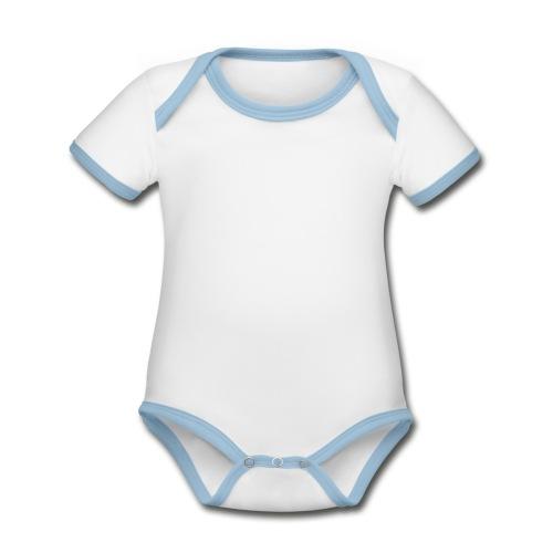 Hot Hoodie - Ekologisk kontrastfärgad kortärmad babybody