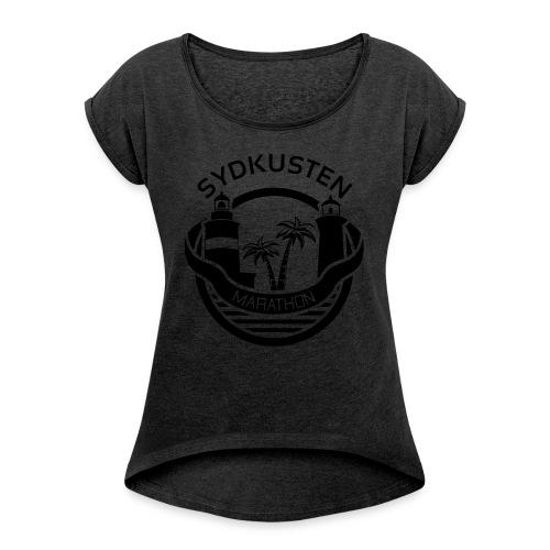 Hot Hoodie - T-shirt med upprullade ärmar dam